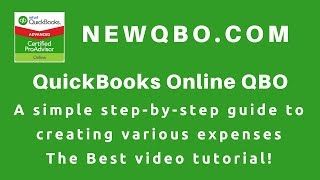 Download QuickBooks Online Tutorial - How To Enter EXPENSES | Vendors Expense Cash Bill Pay Bills Purchase Video