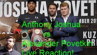 Download Anthony Joshua vs Alexander Povetkin Live Reaction Stream! Video