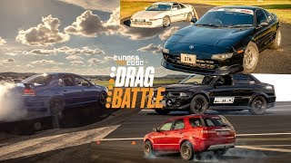 Download Evo vs WRX - Falcon vs RS3 - Supra vs VL - MR2 vs the World! 2019 Tuners Edge Drag Battle Video