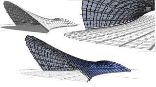 Download BIM - Revit 3D Organic Form 03 Tensile Structure Video