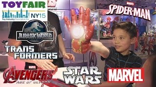 Download STAR WARS, TRANSFORMERS, AVENGERS, JURASSIC WORLD, SPIDER-MAN @ NY Toy Fair 2015 Video