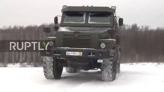 Download Russia: New 12-tonne 'Patrol' armoured vehicles tested on snowy terrain Video