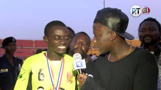 Download Stonebwoy interview Liwin after Stars game Video
