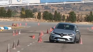 Download Renault Clio 1.5 dCi 90 EDC 2016 - Maniobra de esquiva (moose test) y eslalon   km77 Video