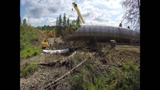 Download Large CN culvert completely replaced in a weekend Video