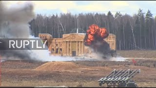Download Russia: 'Reichstag stormed' as Battle of Berlin re-enacted near Moscow Video
