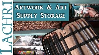 Download How I store my artwork and art supplies - Art Studio Tour - Lachri Video