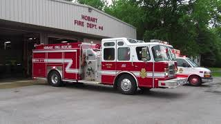 Download Hobart Fire Department Engine 5411 and Ambualnce 5661 Responding From Quarters To A MVC Video
