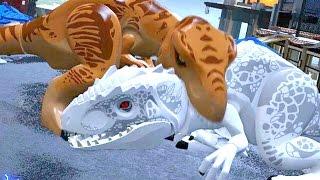 Download LEGO Jurassic World - Indominus Rex VS T-Rex + Ending [Full Battle] Video
