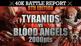 Download Blood Angels vs Tyranids Warhammer 40K Battle Report 8th Edition THE RELIC! 2000pts | HD Video