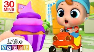 Download Yum Yum, Cupcakes! | Little Angel Nursery Rhymes and Kids Songs Video