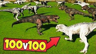 Download 100 INDOMINUS REX vs 100 TREX in Jurassic World Evolution Video