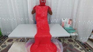 Download Kırmızı Dev slime yaptık 30 lt tutkal kaç kilo hesaplayamadık.Eğlenceli çocuk videosu Video