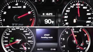 Download 2013 Audi TT RS Plus 360 HP vs. 2013 Mercedes-Benz A 45 AMG Limousine 360 HP 0-200 km/h Acceleration Video