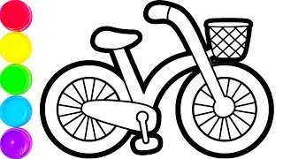 Download Glitter Bicycle coloring and drawing for Kids, Toddlers Кис Кис Video