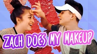 Download ZACH DOES MY MAKEUP | FT. BRUHITSZACH Video
