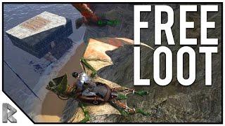 Download LEFT HIS BOAT OPEN, FREE LOOT! - Ark Survival Evolved Shigo Islands PVP #14 Video