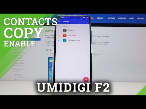 How to Copy Contacts in UMIDIGI F2 – Transfer Contacts