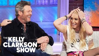 Download Blake Shelton's Manly Ranch Moves Won Over Gwen Stefani's Family: Hear Her Hilarious Story! Video