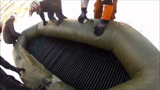 Download Unofficially the worlds fastest rubber boat sledding Video