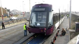 Download Bombardier Flexity 2 Tram - 011 Arrives in Blackpool. 23/03/12. Video