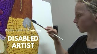 Download Talented Artist Living with a Disability Video