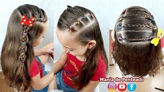 Download Penteado Infantil com Ligas e Tranças | Hairstyle for Little Girls with Elastic and Braids Video