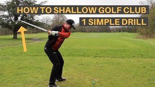 Download HOW TO SHALLOW THE GOLF CLUB AND HIT IT FURTHER Video