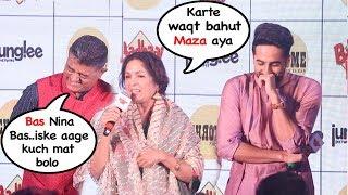Download Nina Gupta's EMBARESSING Moment In Front Of Ayyushman Khurana At Badhai Ho Eevent- FUNNY Reaction Video