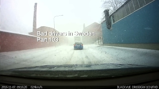 Download Bad Drivers in Sweden #103 Butthurt driver, whiteout and caltrops Video