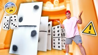 Download WORLDS BIGGEST GAME OF DOMINOES **INSANE FALLING** Video