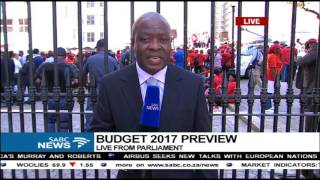 Download The mood outside Parliament ahead of budget Video
