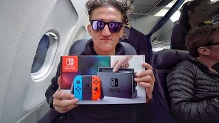 Download Nintendo Switch on an Airplane Video
