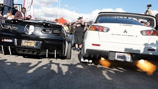 Download INSANELY LOUD CORVETTE LOSES to an EVO in a 2 Step Competition! Video