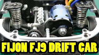 Download FIJON FJ9 DRIFT CAR (AKA D9 Bulldog) - Carbon Fiber & Alloy Masterpiece Part 4 Electronics Installed Video