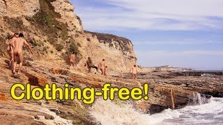 Download Prowling Panther Beach - nudist group explores oceanside rock formations Video