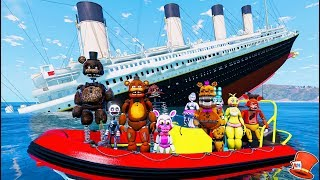 Download ANIMATRONICS ON THE SINKING TITANIC! (GTA 5 Mods For Kids FNAF RedHatter) Video