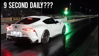 Download 2020 Supra Big Turbo Hits The Drag Strip! (Shocking Results!) Video