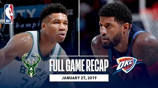 Download Full Game Recap: Bucks vs Thunder | Paul George's Impressive 36 Point Performance Video