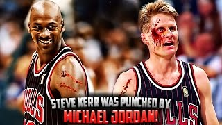 Download The Time Michael Jordan PUNCHED Steve Kerr In The Face! Video
