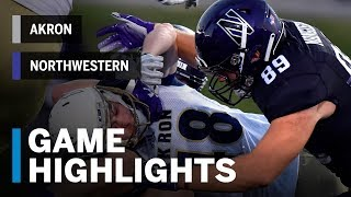 Download Highlights: Akron vs. Northwestern | Big Ten Football Video