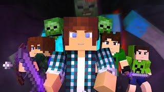 Download Minecraft Música ♫ - COM MEUS AMIGOS | Animation Minecraft (Feat. Brancoala) Video