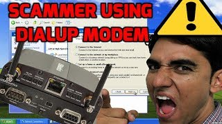 Download Scammer Using Dial up Internet Video