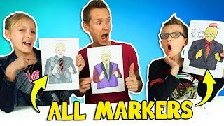 Download ALL MARKERS CHALLENGE w/ our DAD!!! Video