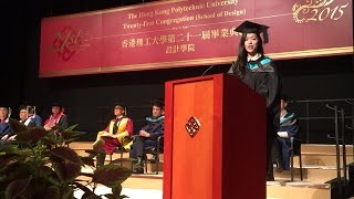 Download Valedictory Speech of The 21st PolyU School of Design Congregation Video