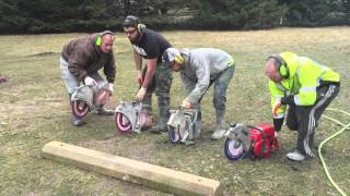 Download Makita VS Husqvarna VS.....SOLO?? Concrete saws cutting test. Video