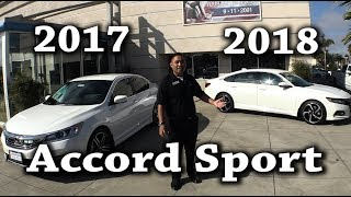 Download 2018 2017 Honda Accord Sport Comparison 1.5T CVT vs 2.4L Video