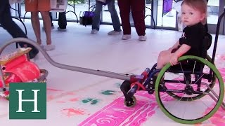 Download Artist Invents Tools That Enable Kids With Disabilities To Paint Video