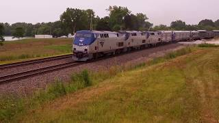 Download Amtrak #4 with New Charger Locomotives Video