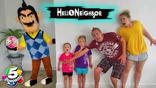 Download Hello Neighbor in Real Life! 5 Surprise Ball Toy Scavenger Hunt at a Stranger's House!!! Video
